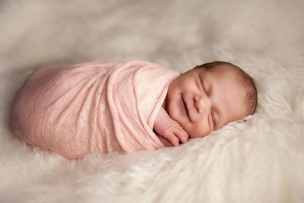 Baby-V-1--newborn baby wrapped in pink blanket--windhamnhnewborn--www.daniellebustamante.com--#nhnewborn #newbornphotographer #newmom